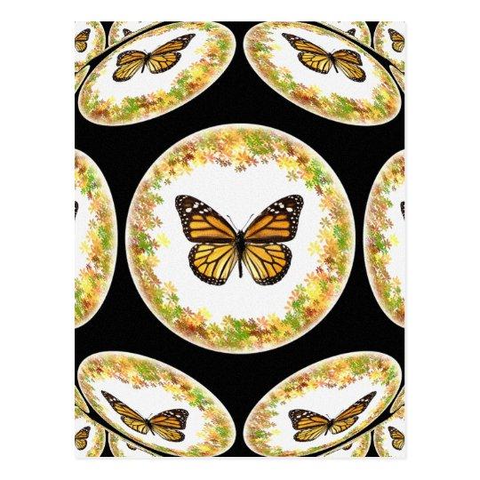 Patterns of monarch butterflies postcard