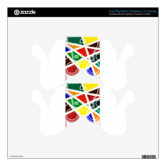 patterns PS3 controller skin