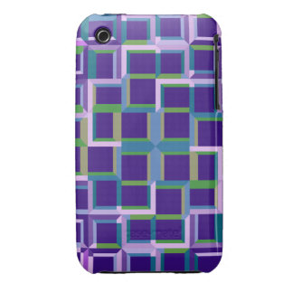 Patterns with perspective, Abstract fractal iPhone 3 Case-Mate Cases