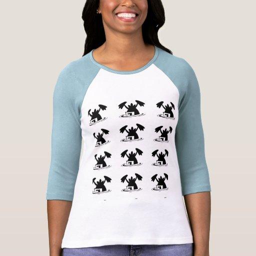 PatternT-Camisa del dibujo animado del pato del Playeras