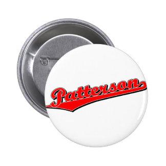 Patterson en rojo pin