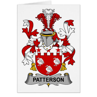 Patterson Family Crest Card