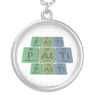 Patti as Phosphorus Astatine Titanium Round Pendant Necklace