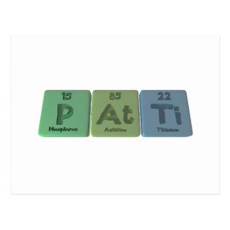 Patti como titanio del astatino del fósforo postal