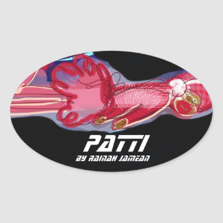 Patti - Oval Stickers, Glossy Oval Sticker