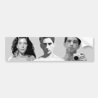 patti smith, jean cocteau and zachary jean bumper sticker