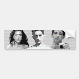 patti smith, jean cocteau and zachary jean car bumper sticker