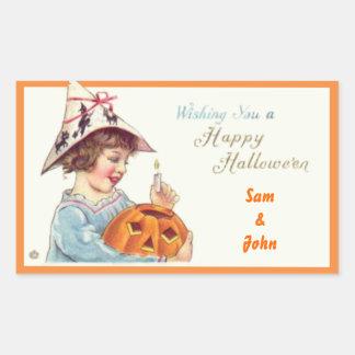 Patties Pumpkin Halloween Rectangular Sticker