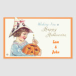 Patties Pumpkin Halloween Rectangular Stickers