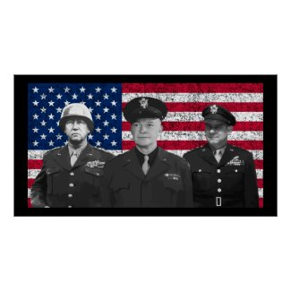 Patton, Eisenhower, and Doolittle print
