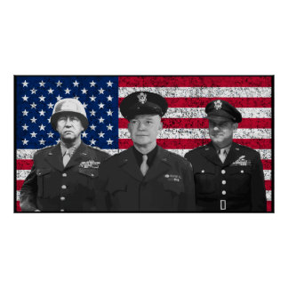 Patton, Eisenhower, and Doolittle Posters