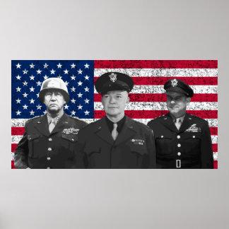 Patton, Eisenhower, and Doolittle Poster