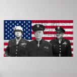 Patton, Eisenhower, y Doolittle Póster