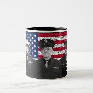 Patton, Eisenhower, y Doolittle Tazas De Café
