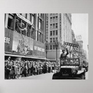 Patton en desfile de la victoria póster