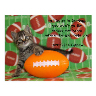 Patton Plays Football - Quote Postcard