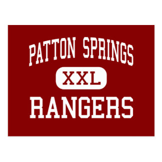Patton Springs - Rangers - High - Afton Texas Postcard