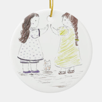 Patty Cake Ceramic Ornament
