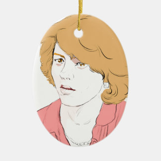 Patty Duke Ceramic Ornament