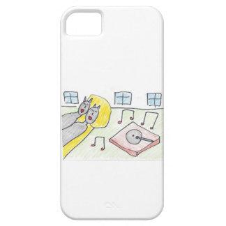 Patty la caja del teléfono del gato negro I iPhone 5 Protector