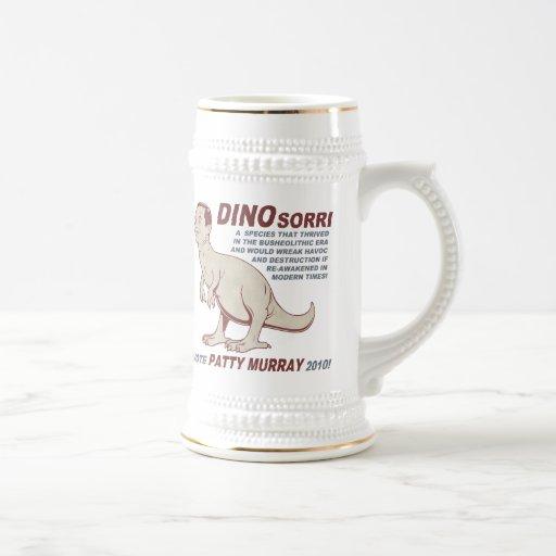 Patty Murray v Dino Sorri 18 Oz Beer Stein