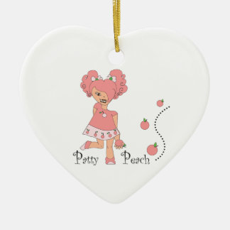 Patty Peach Ceramic Ornament
