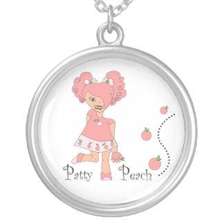 Patty Peach Round Pendant Necklace