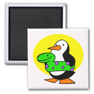 Patty Penguin 2 Inch Square Magnet