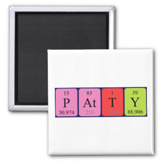 Patty periodic table name magnet