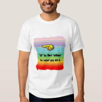 "pattycake's alphabet - letter ""U"" Shirt"