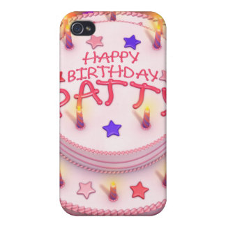 Patty's Birthday Cake Cases For iPhone 4