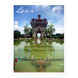 patuxai vientiane postcard