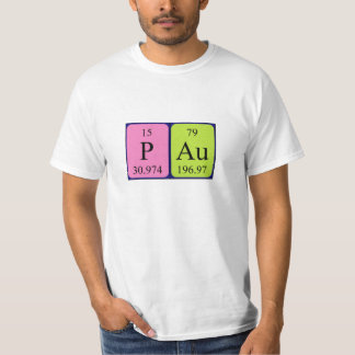 Pau periodic table name shirt
