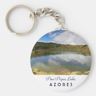 Pau-Pique Lake Basic Round Button Keychain