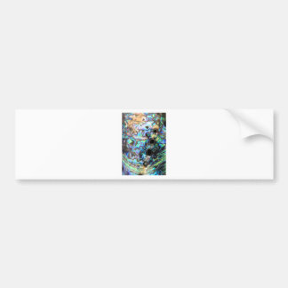 Paua abalone blue and green shell detail bumper sticker