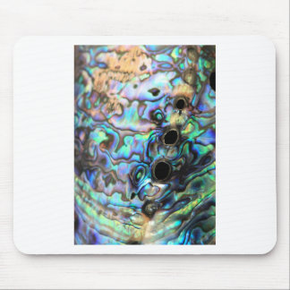 Paua abalone blue and green shell detail mouse pad