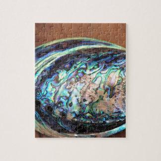 Paua abalone blue and green shellfish detail jigsaw puzzle