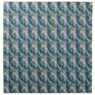 Paua abalone mosaic wallpaper cloth napkin