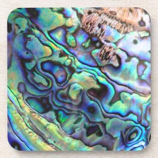 Paua abalone shell detail coasters