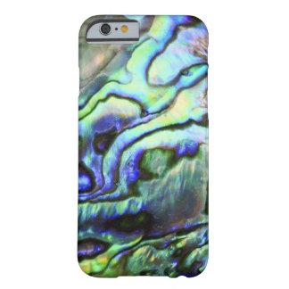 Paua azulverde de la cáscara del olmo funda de iPhone 6 barely there