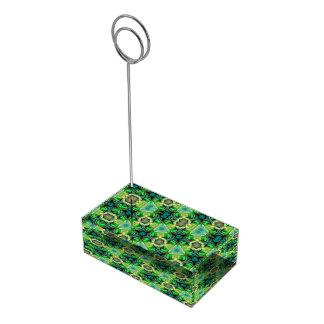 Paua Shell Kaleidoscope Table Card Holder