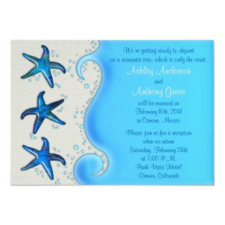 Paua Shell Starfish Post Wedding Reception Only 2 Card