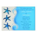 "Paua Shell Starfish Post Wedding Reception Only 2 5"" X 7"" Invitation Card"