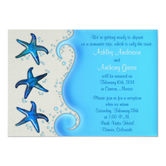 Paua Shell Starfish Post Wedding Reception Only 2 Custom Announcements