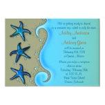 "Paua Shell Starfish Post Wedding Reception Only 5"" X 7"" Invitation Card"