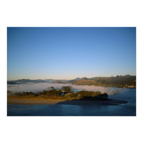 Pauanui Peninsula covered in Fog print