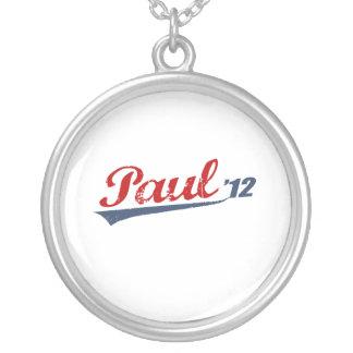 PAUL '12 LOGO ROUND PENDANT NECKLACE