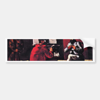 Paul Alexis Reading To Zola By Paul Cézanne Car Bumper Sticker