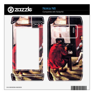 Paul Alexis reads before Zola by Paul Cezanne Decal For Nokia N8