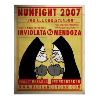 Paul and Storm's Nun FIght Poster
